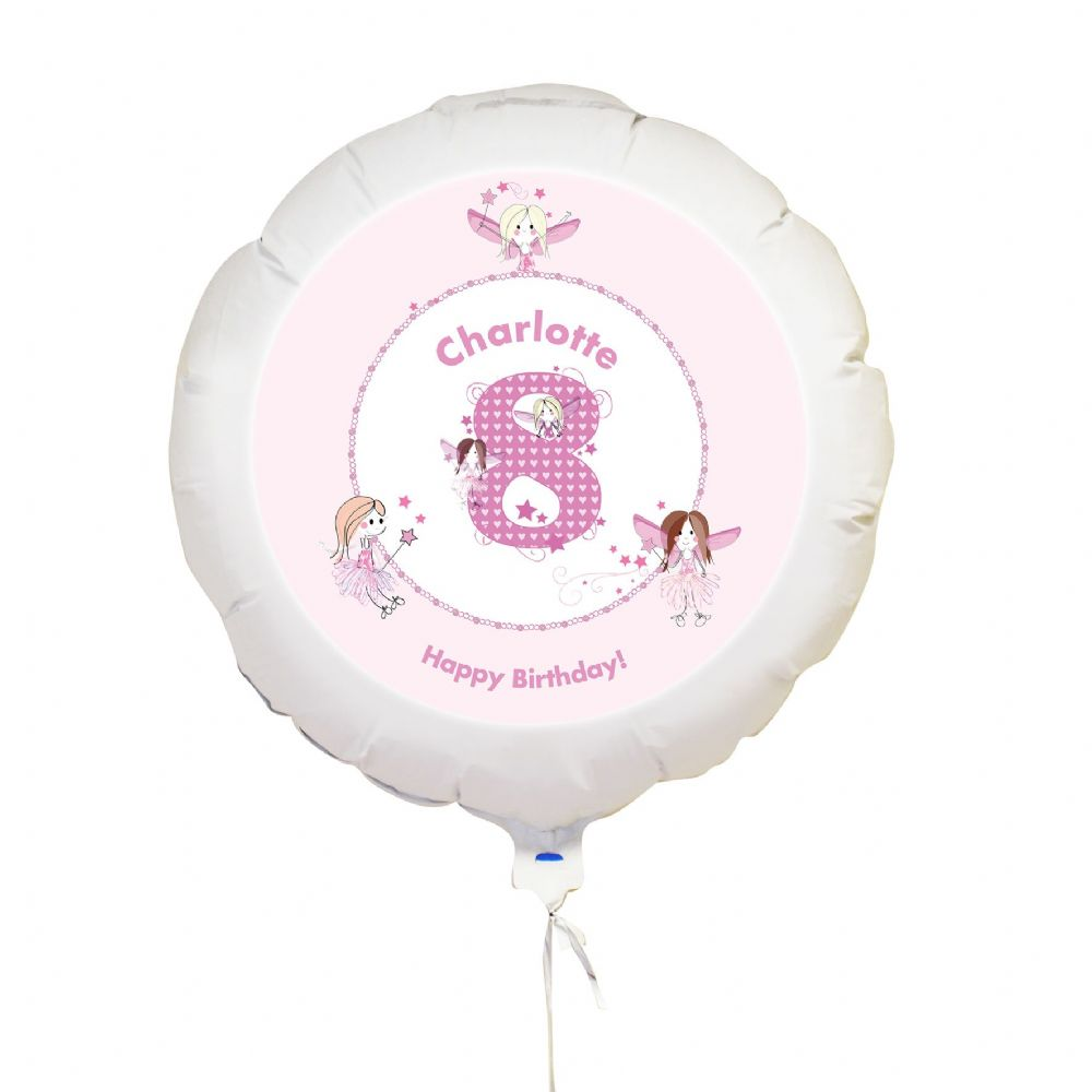 Personalised Fairy Numbers Balloon
